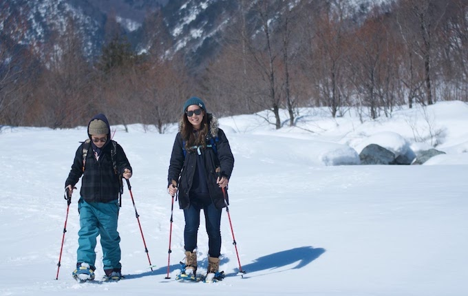 スノーシューで雪山を歩いてみよう