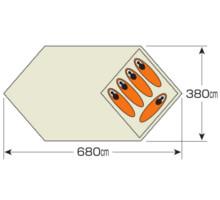 使用人数・床面積 UA-39 CSクラシックス キャンプベースUV 4~5人用
