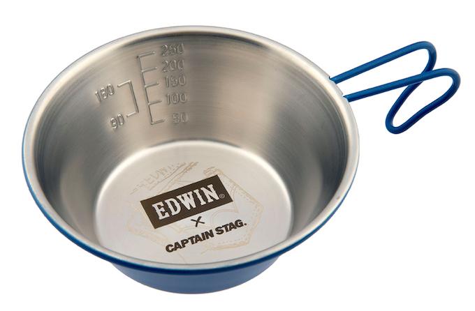キャプテンスタッグ UY-8506 CS × EDWIN ステンレスシェラカップ320mL
