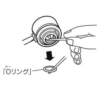 UF-17 エクスギア ガスツーバーナーコンロ 器具せん内「Oリング」の交換方法1