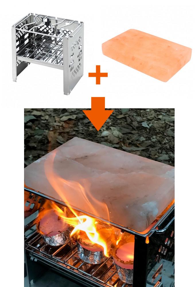 おすすめの岩塩プレート使用方法!「B6カマドスマートグリル」と合わせてヘルシー&コンパクトBBQ