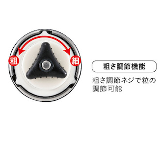 UW-3501 18-8ステンレスハンディーコーヒーミルS(セラミック刃)b