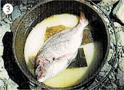 ダッチオーブンレシピ 鯛めし 作り方3