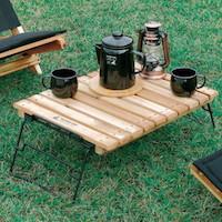 便利でユニークなアウトドアテーブル 使い方も組合せも工夫次第