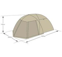 フレームサイズ UA-44 モンテ スクリーンツールームドームテント 5~6人用