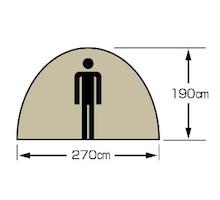 天井高 UA-44 モンテ スクリーンツールームドームテント 5~6人用