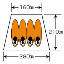 使用人数・床面積 オクタゴン460UV用インナーテント