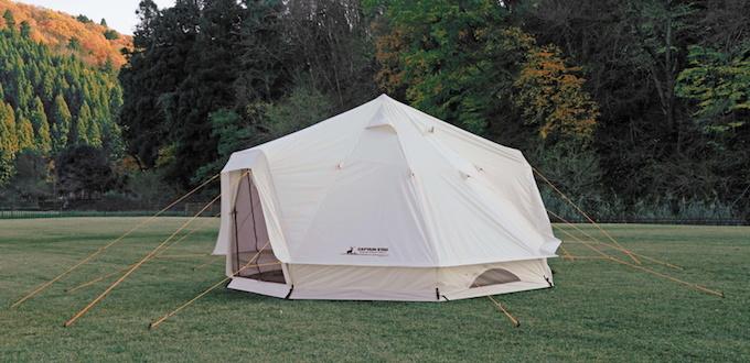 セルフグランピング 大型のテントを使う