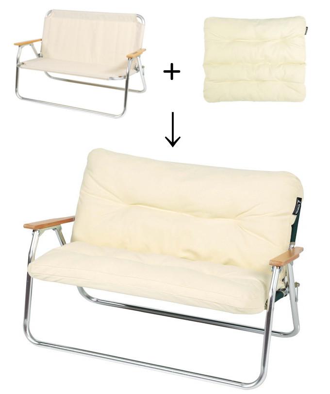 CSクラシックス アルミ背付ベンチ+リラックスクッションカバー