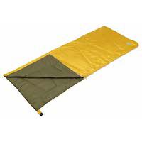 寝袋(シュラフ)UB-30 キャンプアウト 洗えるクッションシュラフ(オールドイエロー×オリーブ)