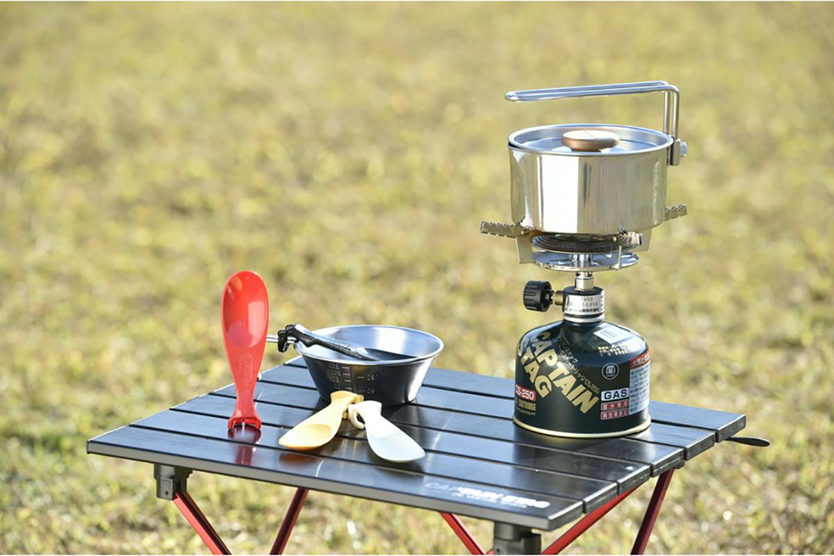シェラカップスプーン 水平にスタンディング可能で衛生的