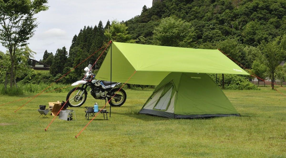 ゆったりソロキャンプする時におすすめのテントとタープの組み合わせ 1