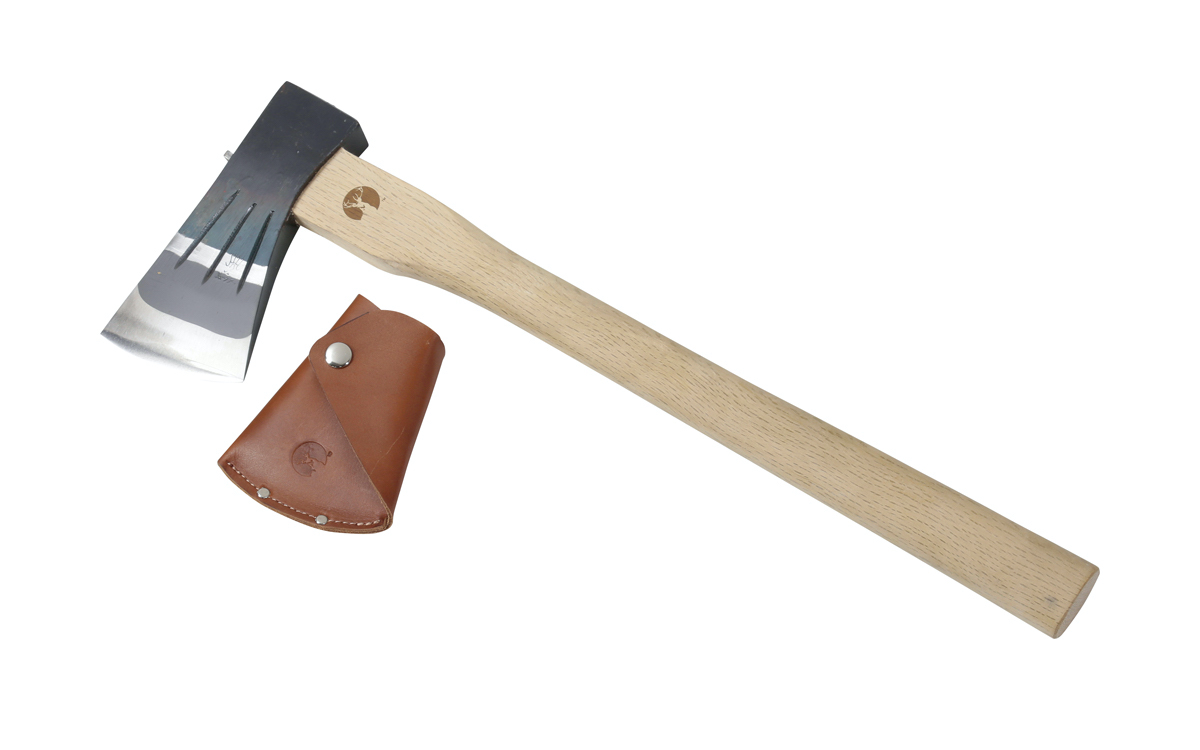 UM-9 全鋼小斧 ロングストレート450 レザーカバー付